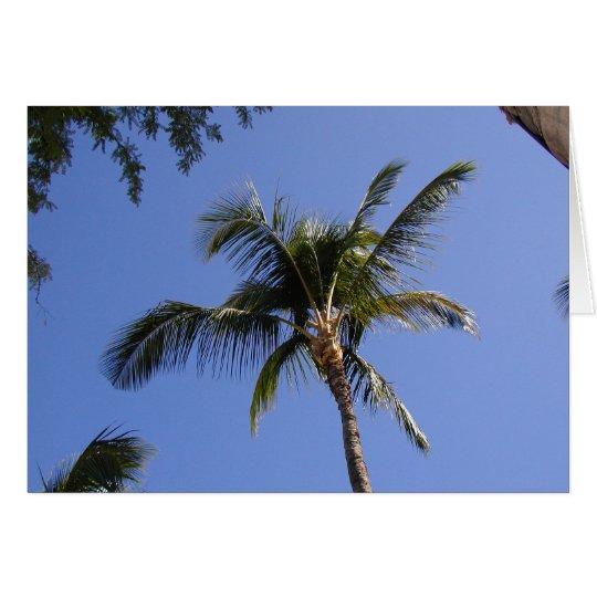Palme Grußkarte