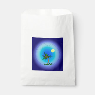 Palme im Meer Geschenktütchen