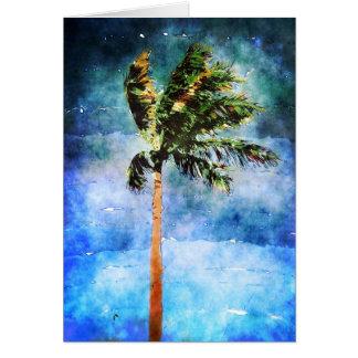 Palme in einem tropischen Sturm Karte