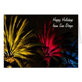 Palme mit Licht-Weihnachten frohe Feiertage Karte