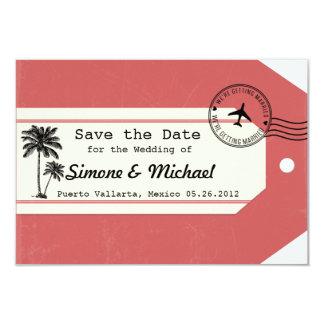 Palme-Reisethema Gepäck-Umbau Save the Date 8,9 X 12,7 Cm Einladungskarte