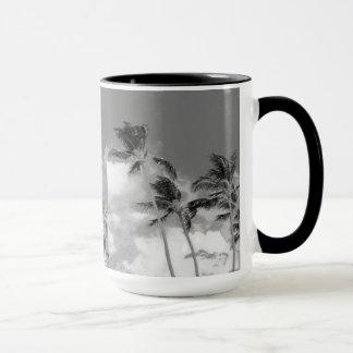 Palme-Schwarzweiss-Fotografie-Tasse Tasse