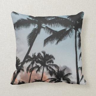 Palme-Sonnenuntergangdekorkissen Kissen