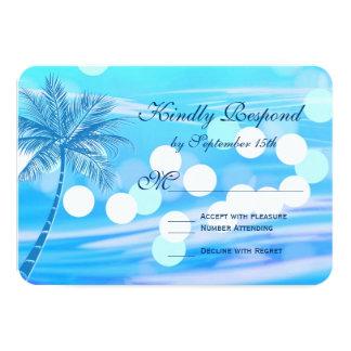 Palme-Strand-Hochzeit in Urlaubsort UAWG Karten 8,9 X 12,7 Cm Einladungskarte