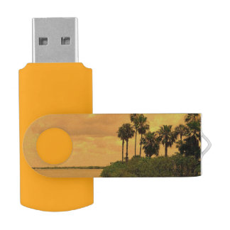 Palme-Träumerei Swivel USB Stick 2.0