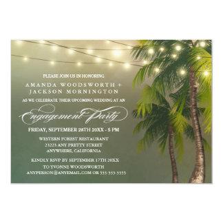Palme-tropische Verlobungs-Party Einladungen