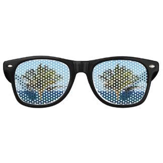 Palme über dem Ozean Retro Sonnenbrillen