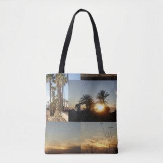 Palmen auf dem Strand Tasche