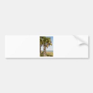 Palmen auf Myrtle Beachostküsten-Promenade Autoaufkleber