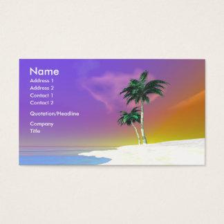 Palmen auf Weiß - Geschäft Visitenkarte