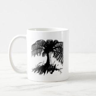 Palmen-Dunkelheits-Tasse Kaffeetasse