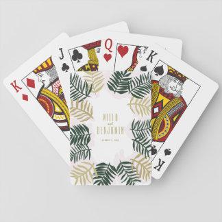 Palmen-Flucht-Hochzeits-Spielkarten Spielkarten