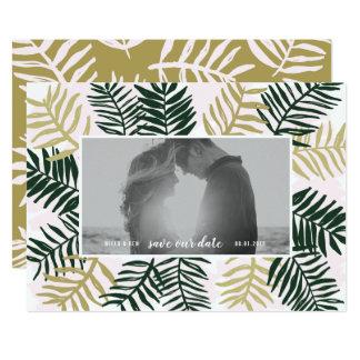 Palmen-Flucht Save the Date Karte