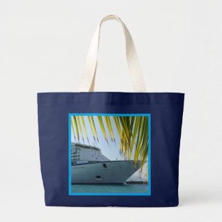 Palmen-gerahmter Bogen des Schiffs Jumbo Stoffbeutel