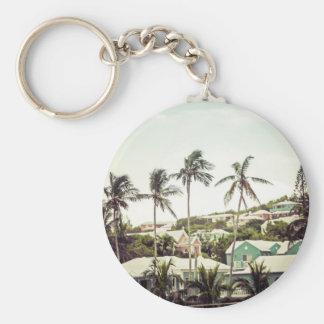 Palmen in Bermuda Schlüsselanhänger