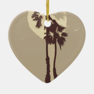 Palmen Keramik Herz-Ornament