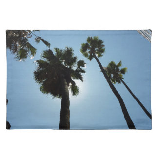 Palmen Los Angeles Hollywood USA Stofftischset