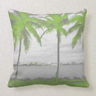 Palmen Miami, Florida Grün Zierkissen