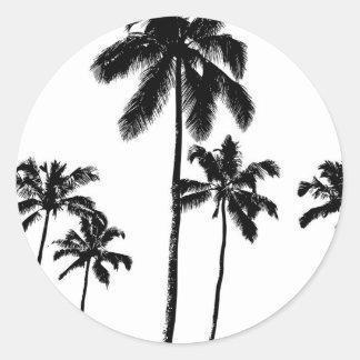Palmen Runder Aufkleber