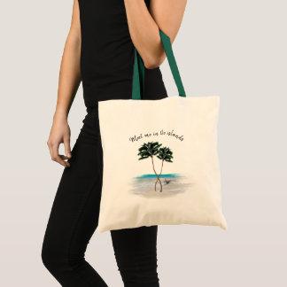 Palmen treffen mich in der Insel-tropischen Tasche