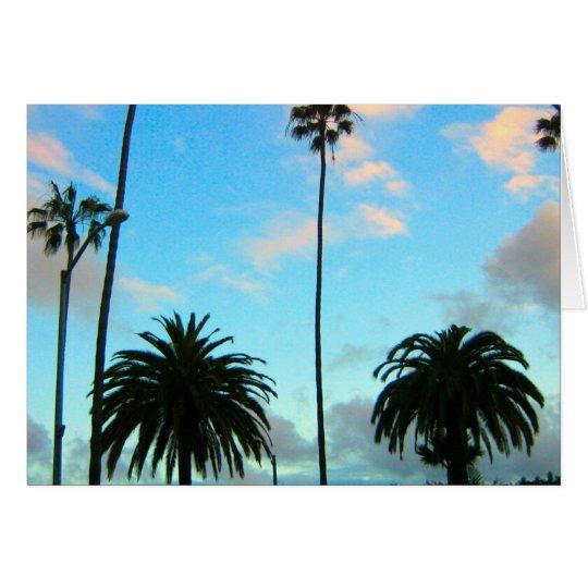 Palmen und blauer Himmel-Gruß-Karte Karte