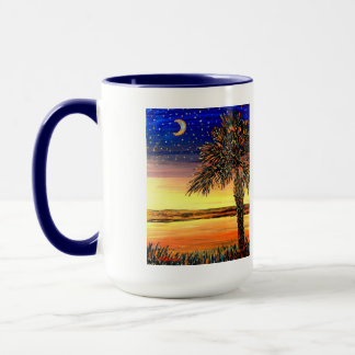 Palmetto-Sonnenuntergang-Keramik-Tasse Tasse