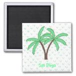 Palmiers 2, aimant de réfrigérateur de San Diego