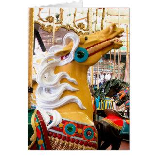 Palomino Looff Karussell-Pferd Karte
