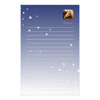 Palomino-Pferd mit weißer Flamme Briefpapier