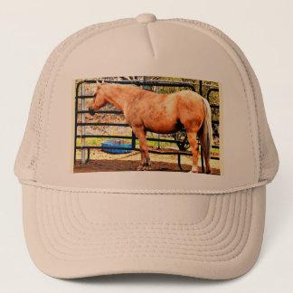 Palomino-Pferdefernlastfahrer-Kappe Truckerkappe