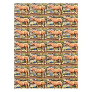 Palomino-Pferdekundenspezifische Tischdecke