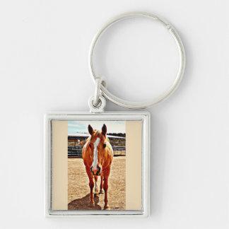 Palomino-Pferdeschlüsselkette Schlüsselanhänger