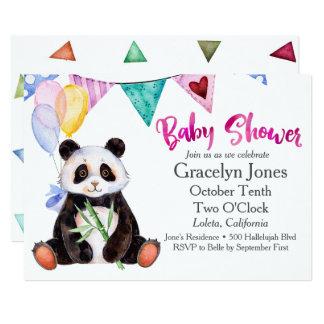 Panda-Babyparty Karte