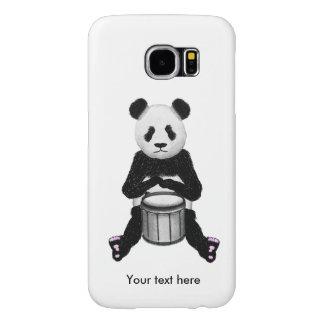 Panda-Bär, der die Trommel-Illustration spielt