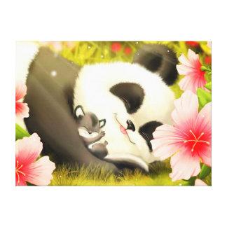 Panda-Bär Leinwanddruck