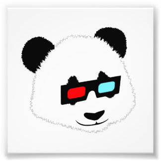 Panda-Bär mit Gläsern 3D Kunst Fotos