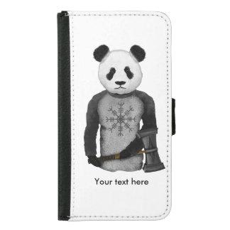 Panda-Bär mit Viking-Hammer Samsung Galaxy S5 Geldbeutel Hülle