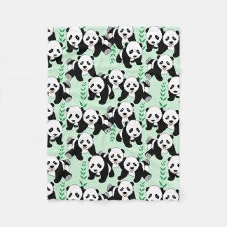 Panda-Bärn-Grafik-Muster Fleecedecke