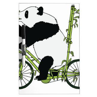 Panda-Bärn-Reitbambus-Fahrrad Trockenlöschtafel