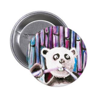 Panda espiègle badge rond 5 cm