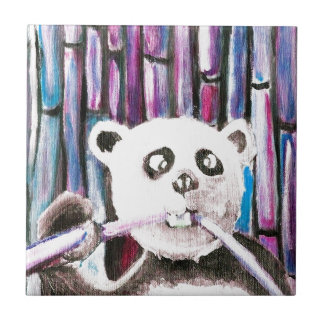 Panda espiègle petit carreau carré