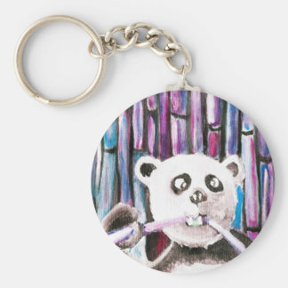 Panda espiègle porte-clé rond