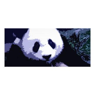 Panda-Gesichts-Pop-Kunst-Gestell-Karte Werbekarte