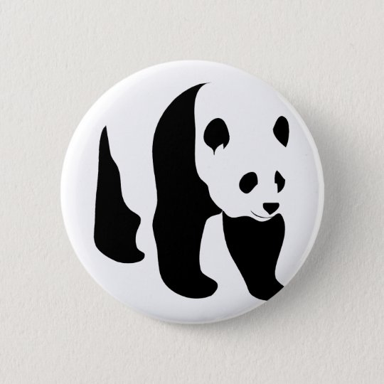 Panda!! Knopf Runder Button 5,7 Cm