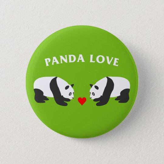 Panda-Liebe (Grün) Runder Button 5,7 Cm