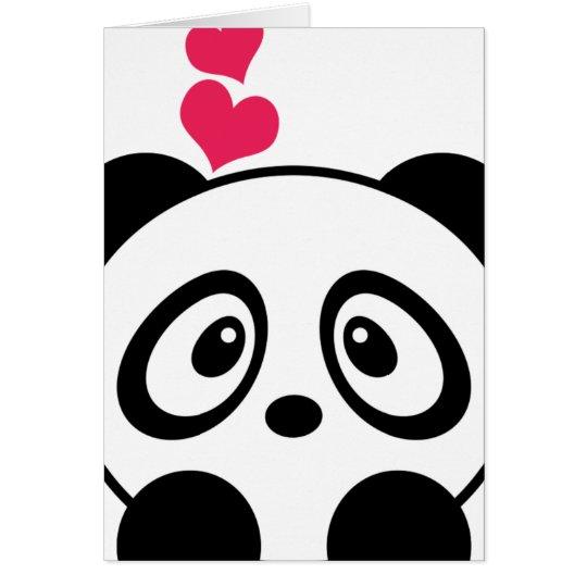 Panda-Liebe-Grußkarte Grußkarte