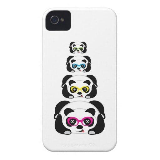 Panda mignon de caisse de Blackberry Étui iPhone 4