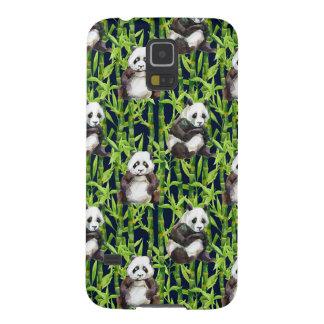 Panda mit BambusAquarell-Muster Samsung Galaxy S5 Hülle
