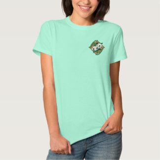Panda-Paare Besticktes T-Shirt