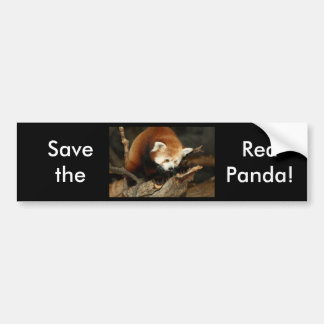 Panda rouge autocollant de voiture